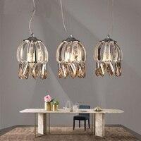 Современный минималистский 3 головки подвесные лампы обеденный стол, ресторан бар столовая подвесной светильник оформлен освещения za90617
