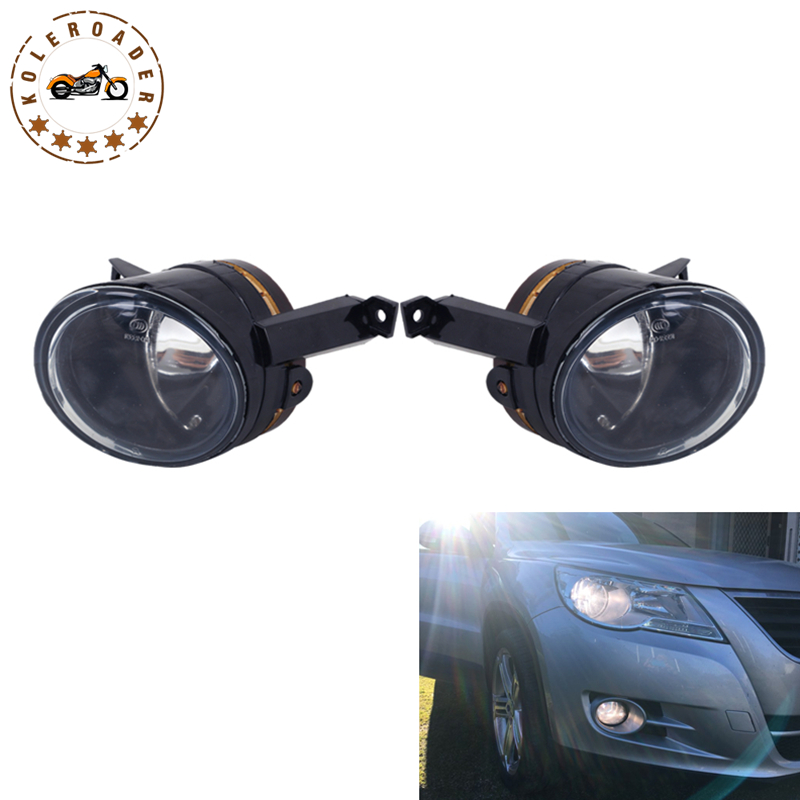 Left & Right Front Bumper Fog Light Foglamps For VW Golf 5 Plus mk5 Caddy III Eos Polo Tiguan Touran Wagon Car Lighting #9324 free shipping for vw golf 5 golf mk5 2004 2005 2006 2007 2008 2009 new front right halogen fog light fog lamp with convex lense