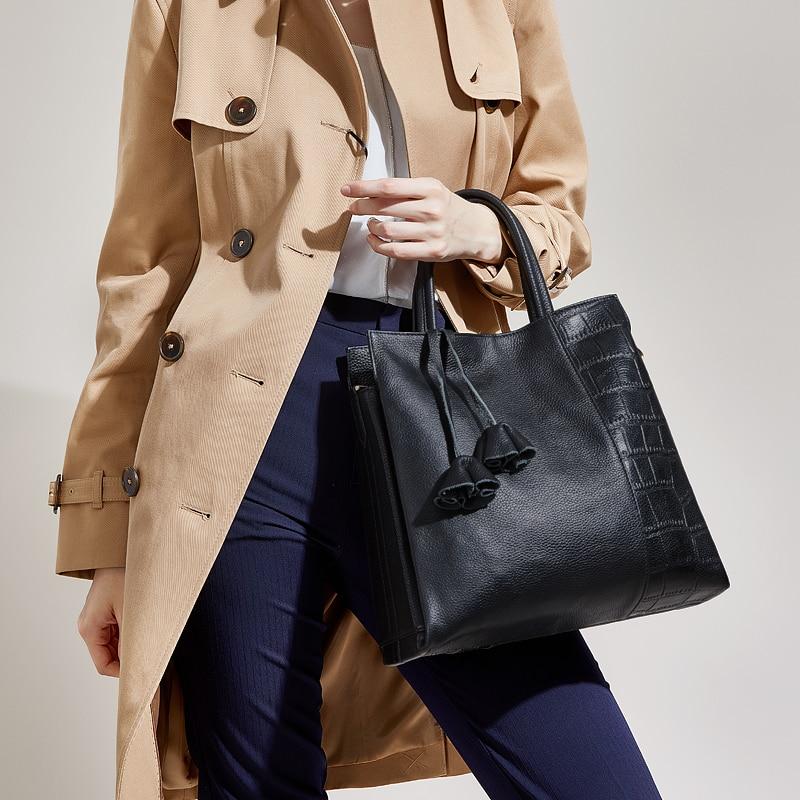 Hot Natural cowhide bag for women 2018 luxury handbags women bags designer genuine leather bag ZOOLER