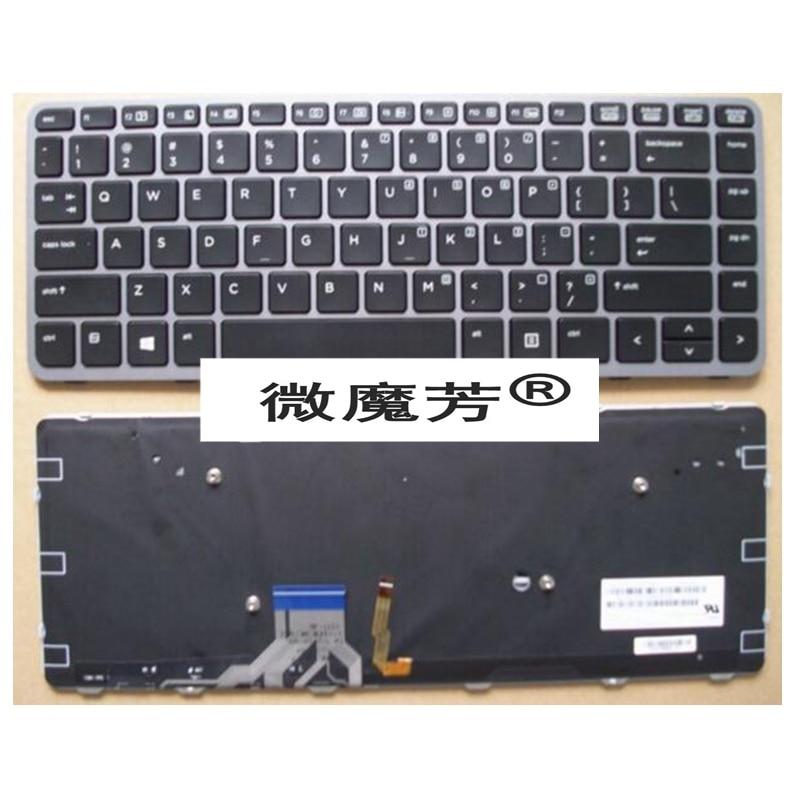 English Laptop Keyboard for HP for EliteBook Folio 1040 G1 1040 G2 739563-001 739563001 US laptop battery for hp bl06xl hstnn db5d 722297 001 722236 171 elitebook folio 1040 g1