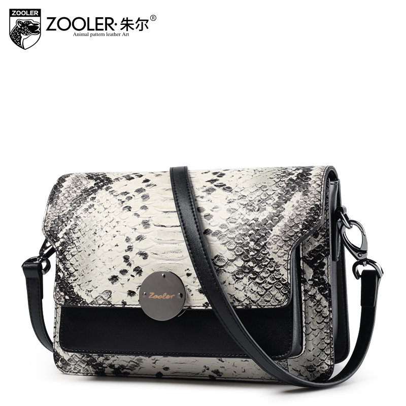 ZOOLER 2017 women crossbody bags  genuine leather female classic serpentine shoulder bags ladies leather messenger bagS#QM-1123