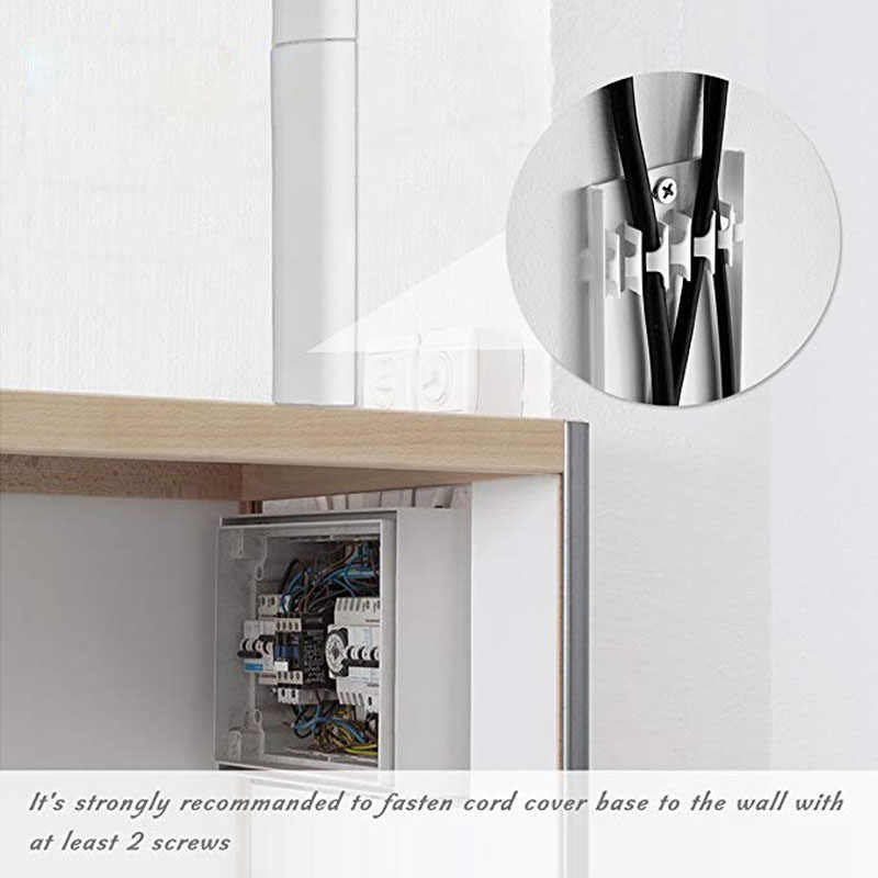 Gray PP Wiring Cable Duct Cable Trunking TV Cord Cover Conceals Cables Hide Wiring on