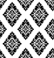 HaokHome Vintage Damask Peel And Stick Wallpaper Black White Self Adhesive Contact Paper