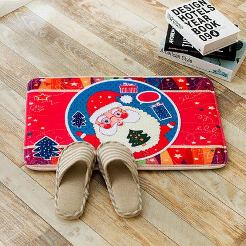 3d утолщение фланель Европа и США Рождество декоративные коврики ванная комната Противоскольжения колодки коврики ...