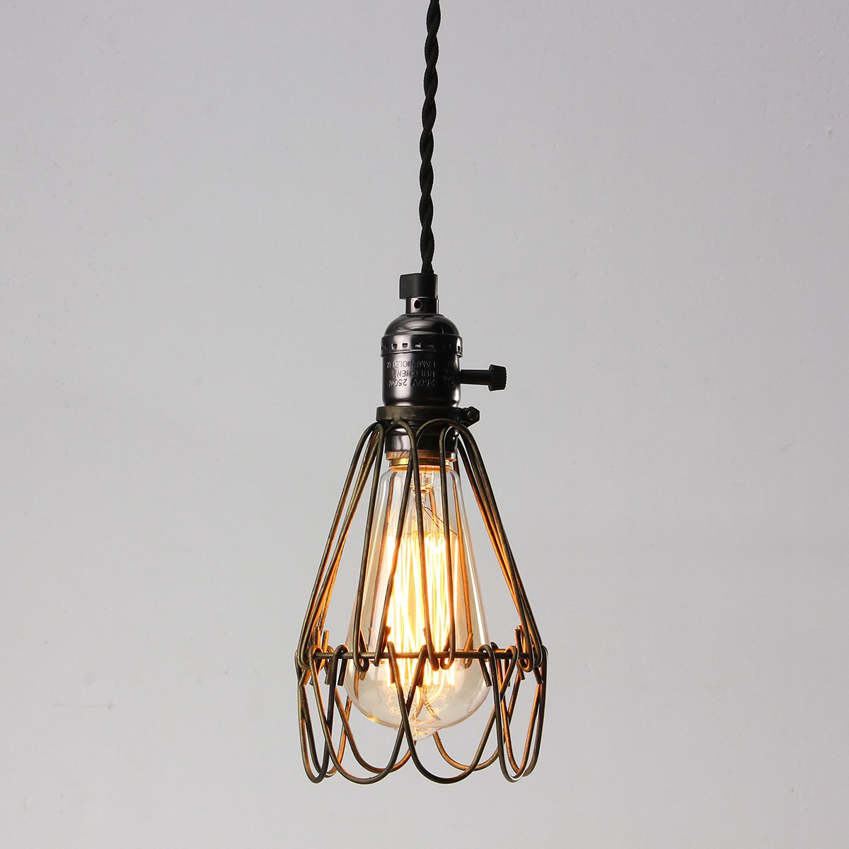 buy lamp cover retro vintage industrial pendant light bulb guard wire cage. Black Bedroom Furniture Sets. Home Design Ideas