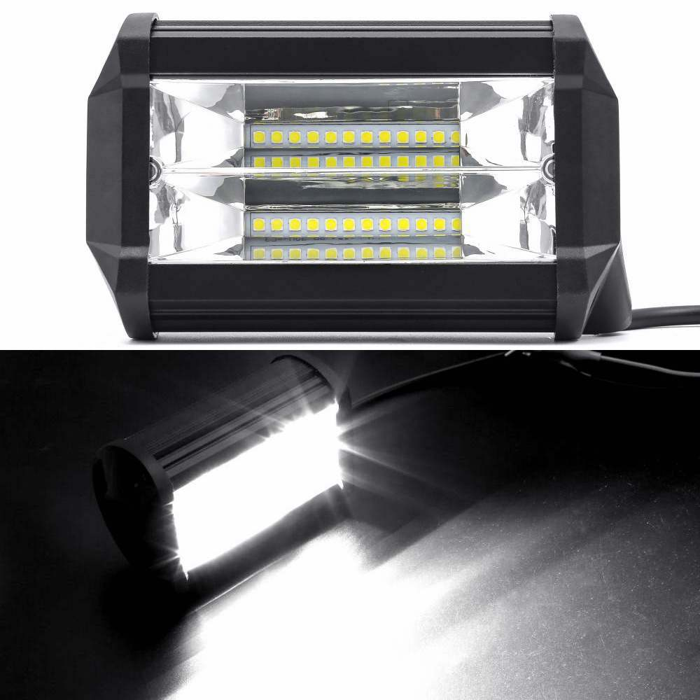 72W LED Work Lights 12V Light Bar 5 Inch 4D LED Lamp for Auto Fog Lamps for Tractor Boat OffRoad Car Truck SUV ATV Motorcycle 5 5 inch 80w led work light 12v 60v dc led driving offroad light for boat truck trailer suv atv led fog light waterproof