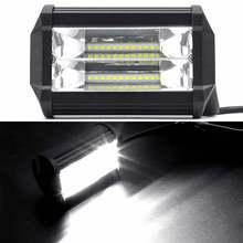 72 W LED Luci di Lavoro 12 V Luce Bar 5 Pollice 4D HA CONDOTTO LA Lampada per Auto Fari Lampade per Trattore Barca OffRoad Car Truck SUV ATV moto