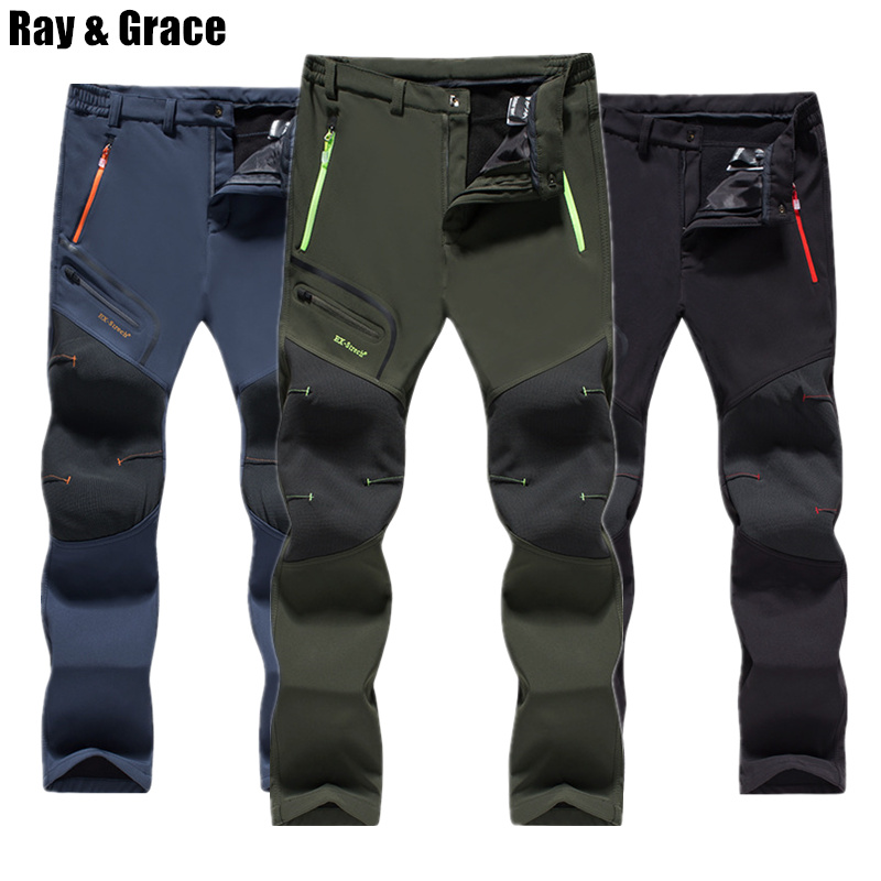 RAY GRACE Men Winter Pants Waterproof Warm Fleece Outdoor Hiking Climbing Ski Trousers Softshell Travel Tourism Pants For MaleRAY GRACE Men Winter Pants Waterproof Warm Fleece Outdoor Hiking Climbing Ski Trousers Softshell Travel Tourism Pants For Male