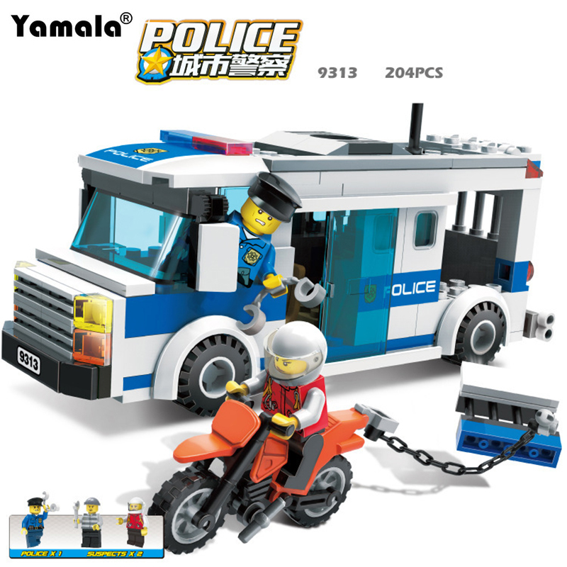 [Yamala] Police Station Model Building Blocks Playmobil Blocks DIY Bricks Educational Toys Compatible Legoingly Police luxury deck mount dual handles bathroom brushed nickel basin faucet 3 holes widespread mixer taps