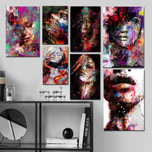 Abstract Amazing Art Girl Modern Canvas Pop Print Poster Wall Painting Scroll Artwork Pictures Home Decor