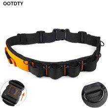 Adjustable Padded Camera Waist Belt Lens Bag Holder Case Pouch Holder Pack Strap