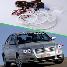 4pcs/set Super bright 7000K white 3528 smd led angel eyes halo rings car styling For Toyota Avensis T250 2003 – 2009