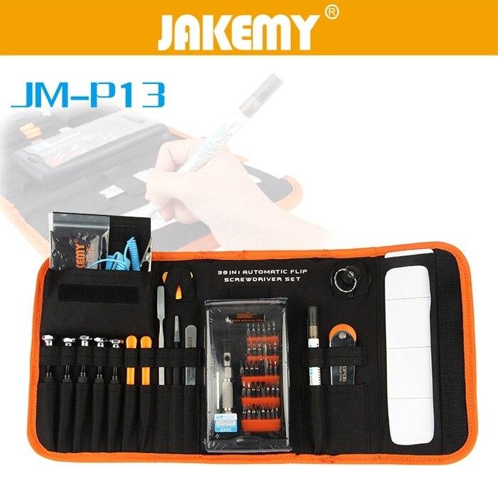 цена на JAKEMY JM - P13 38 in1 Multifunctional Precision Screwdriver Set For iPhone Laptop Mini Screwdriver Bits Repair Tools Kit Set