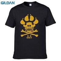 GILDAN K-9 Specjalne Jednostki Psów Pies Stóp Mężczyzn Dorywczo T koszule Lato Z Krótkim Rękawem 100% Bawełna T-shirt Fajne Czaszka Bluzki Tees