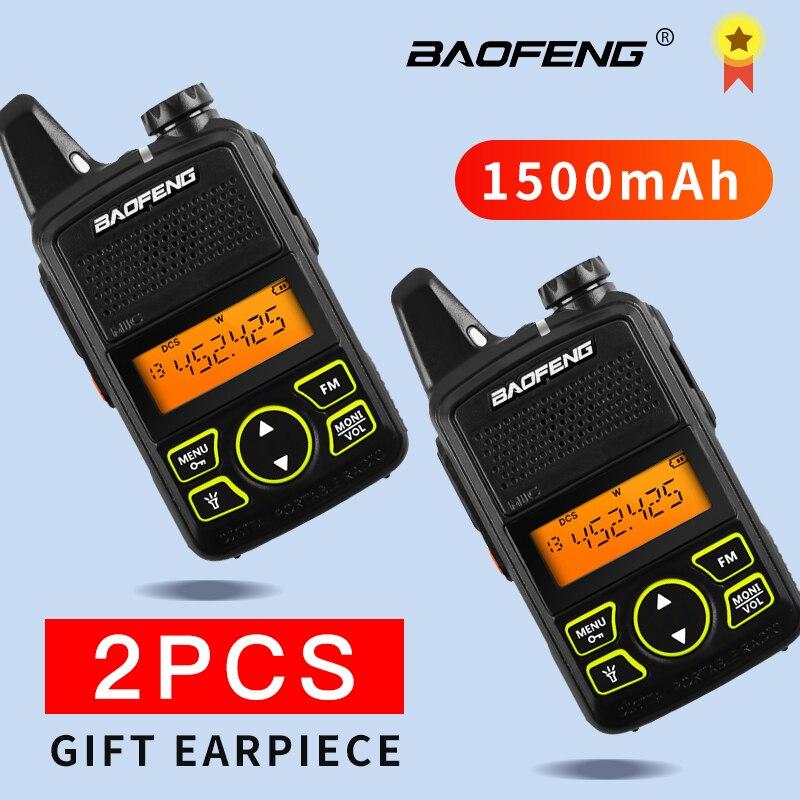 Baofeng bf-t1 talkie-walkie Enfants radio uhf Portable radio bidirectionnelle Jambon Radio USB Chargeur mini bf t1 BAOFENG 2 pièces talkie-walkie
