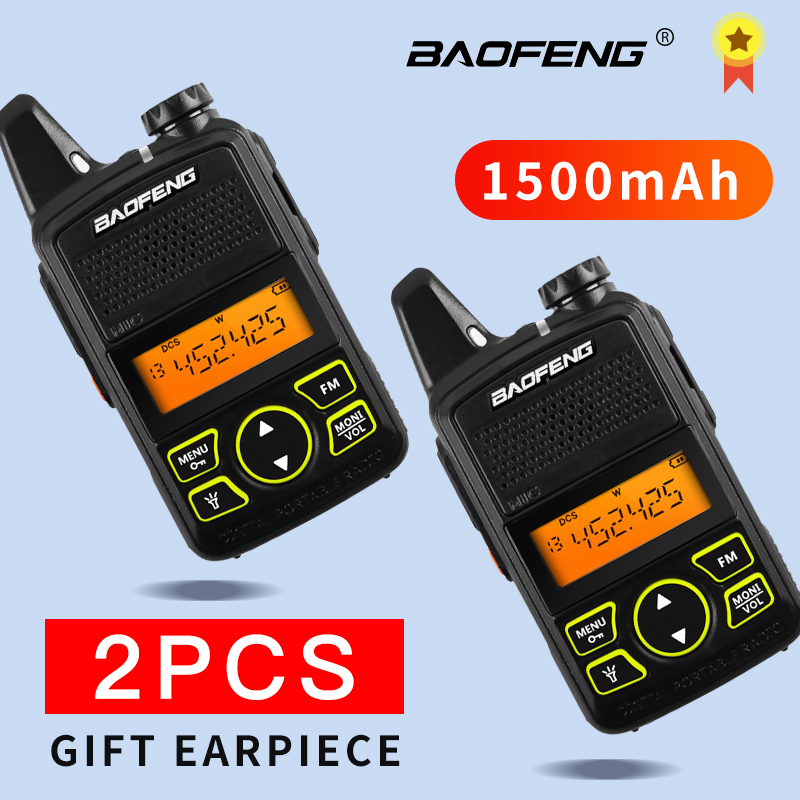 Baofeng bf t1 walkie talkie Kids radio uhf Portable two way radio Ham CB Radio USB