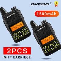 הדרך רדיו uhf BF-T1 Baofeng טוקי רדיו לילדים UHF רדיו ניידת שני הדרך Ham CB רדיו USB מטען מיני BF T1 Baofeng 2pcs WALKY טוקי (1)