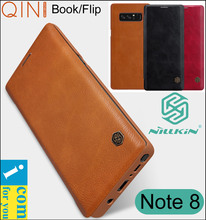 Nillkin Qin книга откидную крышку кожаный чехол для Samsung Galaxy Note 8 Note8 из натуральной кошелек Coque capinha