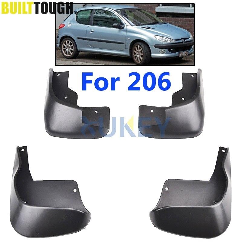 Doelstelling Set Auto Spatlappen Voor Peugeot 206 Hatchback 98-12 Spatlappen Splash Guards Slikranden Spatbord Spatbord 2003-2009 2006 2005 2007 2008