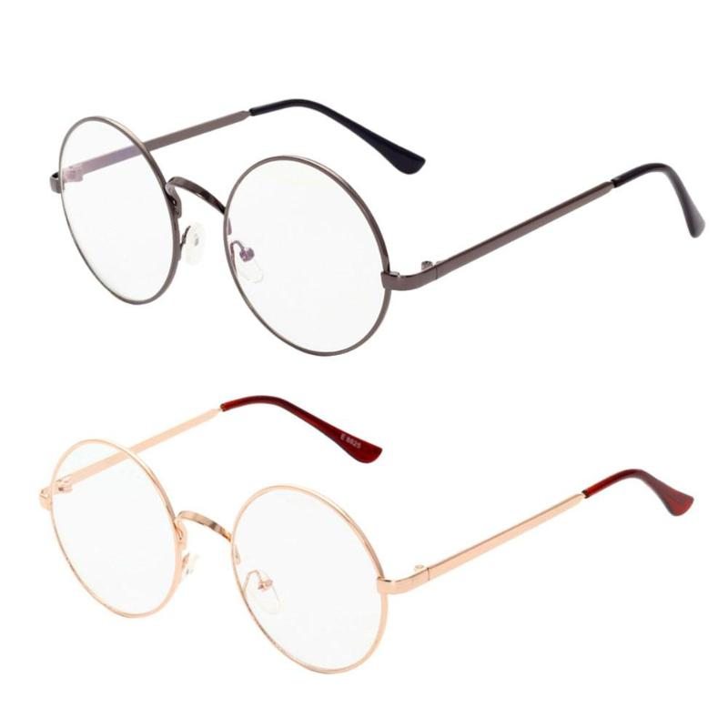 cdd91881bbfb Detail Feedback Questions about Unisex Retro Round Glasses Spectacle  Radiation Protection Stylish and Fashionable Metal Frame Women Men Vintage  Plain ...