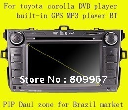 Car DVD player built-in navigation system GPS DVD mp3 ipod input 2SD slots Front USB handfree call daul zone PIP special  model