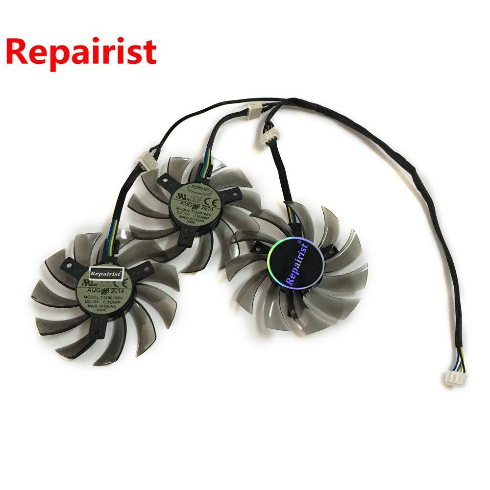 3 pcs/lot HD7950 HD7970 GPU Refroidisseur ventilateur pour GIGABYTE GV-R795UD-3GD GV-R795WF3 GV-R797OC-3GD HD 7950/7970 carte vidéo de refroidissement