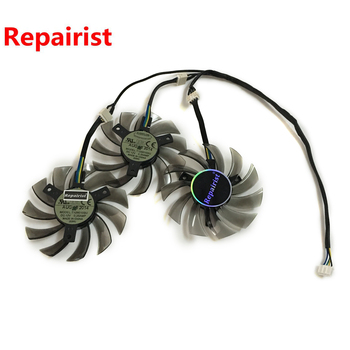 3pcs/lot HD7950 HD7970 GPU Cooler fan for GIGABYTE GV-R795UD-3GD GV-R797OC-3GD HD 7950/7970 video card cooling image
