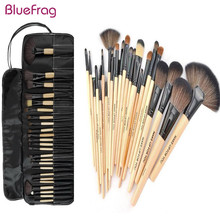 Professional 24 Pcs Makeup Brush Set Tools Make-up Toiletry Kit Wool Brand Make Up Brush Set Case Cosmetic Brush Top Quality!