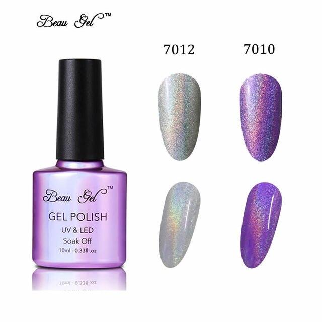 Beau Gel 2 unids 10 ML Hermosa Bling de Color Del Arco Iris de Neón ...