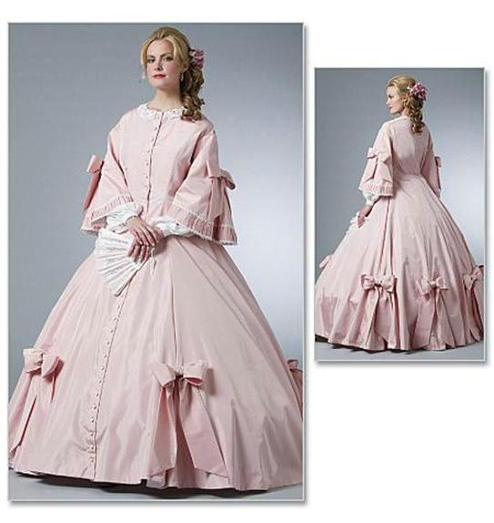 NewAll size Rosa Victorian Klänningar 1860S Inbördeskrig Southern - Maskeradkläder och utklädnad