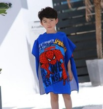Babies Boys Girls Children's Catoon printing Wearable Swimming Hooded Beach Wrap Bath Towel Cloak Poncho Skin-friendly Hooded