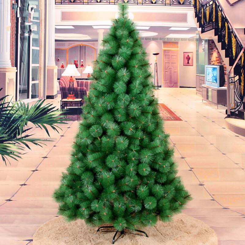 nueva m cm de agujas de pino de navidad rbol de navidad decorado
