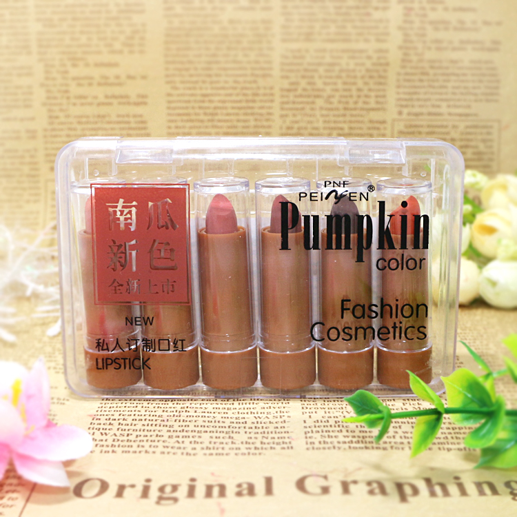 6 Colors Charming Matte <font><b>Lipstick</b></font> <font><b>Set</b></font> Waterproof Long Lasting Vitemin Moisturizing Lip Stick Pintalabios <font><b>Mate</b></font> Maquiagem image