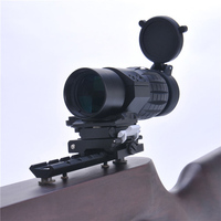 3x Magnifier Type Compact Tactical Sight Scope Viewfinder With Flip To Side Weaver 20mm Picatinny Rail