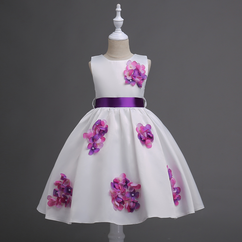 Girls Flower Kids Party Dresses For Wedding Children's Princess Girl Evening Prom Toddler Clothes for 5 6 8 10 12 14 16 years girls dress new summer flower kids party dresses for wedding children s princess girl evening prom toddler beading clothes 3 12