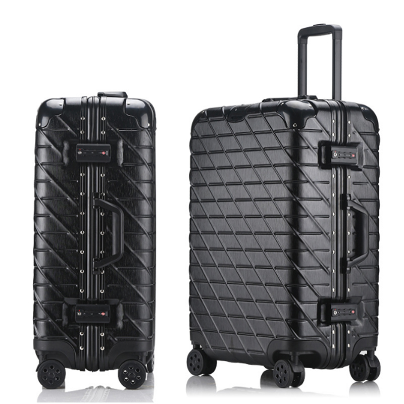 20'24'26'29 Vintage 100% Aluminum Alloy pull rod suitcase metal luggage fashionable new type of suitcase luggage pull rod box купить в Москве 2019