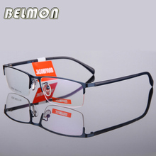Belmon Spectacle Frame Men Eyeglasses Korean Computer Prescription Optical For Male Eyewear Clear Lens Eye Glasses RS176