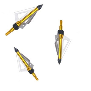 Image 4 - Wholesale 300pcs Hunting Arrow Head 100 grain Broadhead Archery  Stainless Steel 3 blades five color can to be choose