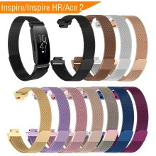 Loop Stainless Steel Strap for Fibit Inspire/Inspire HR Band Smart Watch Bracelet Replacement Fitbit Inspire Ace 2