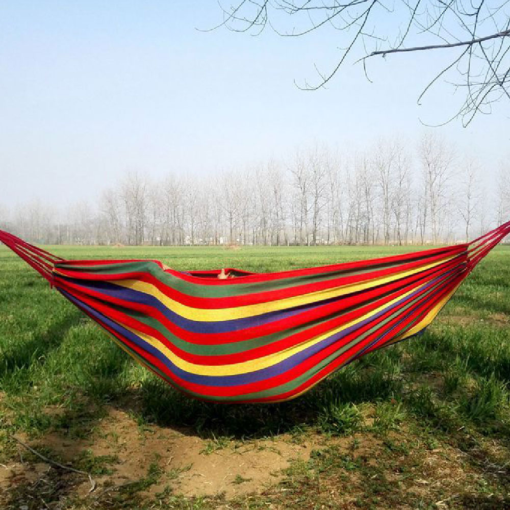 Hammock Garden Sports Hammock Outdoor Portable home Travel Camping Swing Canvas Stripe Hang Bed Hammock цена