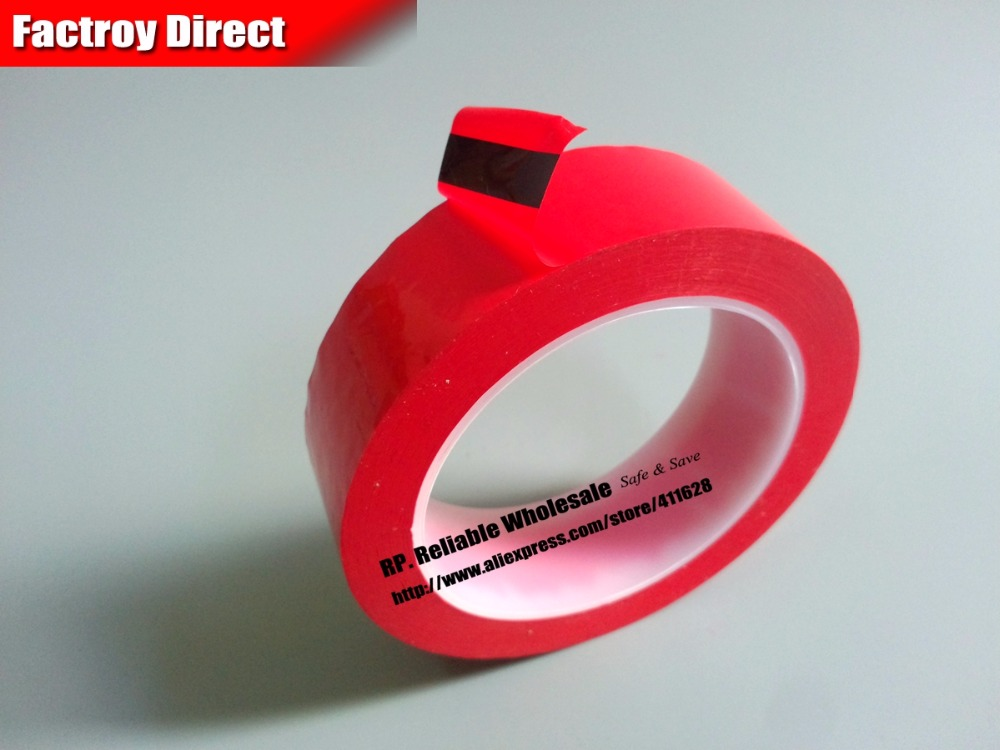 45mm*66Meter Red One Sided Adhesive Insulated Mylar Tape for capacitors, Fasten size 65mm 66meter single sided glued insulating mylar tape for transformers fasten blue