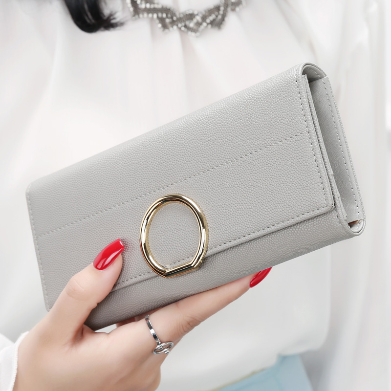 New arrival hasp three fold wallet for women wallets brands purse dollar price high quality designer purse card holder coin bag