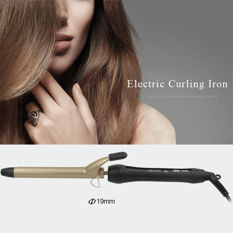 FMK Ceramic Styling Tools Hair Curling Iron Professional Roller Curling Wand 19/25/28/32MM Inner Buckle Electric Hair Curler