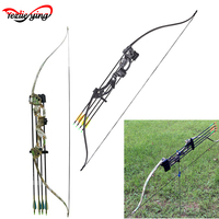 With 20lbs Draw Weight 28 Draw Archery Accessoriesfor 48 Recurve Bow And Arrow Set Women and Children Archery