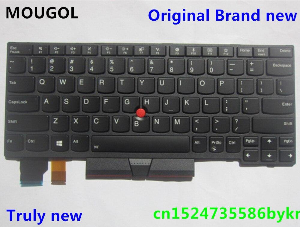 MOUGOL New Original US English Backlit Keyboard for Thinkpad X280 A285 Backlight Teclado 01YP120 SN20P33831 01YP040