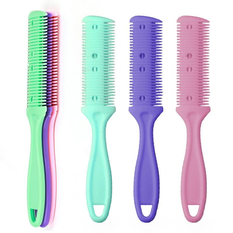 2Pcs Double Sides <font><b>Hair</b></font> Razor <font><b>Comb</b></font> Cutter Cutting <font><b>Thinning</b></font> <font><b>knife</b></font> Haircut Grooming Men Women <font><b>Hair</b></font> Cutter Styling Tool High Qualit