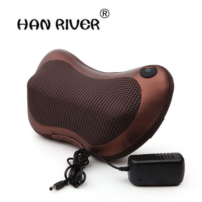 Portable Massager Pillow Electric Infrared Heating Kneading Neck Shoulder Back Body Massage Pillow Car Home Dual-use Massager