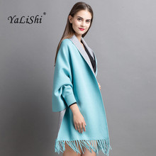 2017 Autumn Women Poncho Batwing Sleeve cashmere Tassels Cardigans Winter Cape Double-sided shawl