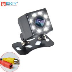 EKIY uniwersalna kamera samochodowa na lusterko wsteczne 8 widzenie nocne led szeroki kąt CCD kolor hd obraz wodoodporna kamera cofania Parking w Kamery pojazdowe od Samochody i motocykle na