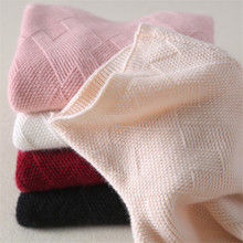Cashmere sweater women winter thick pullover turtleneck short wool sweater female knit bottoming shirt